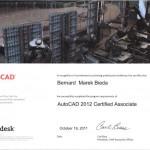 Certyfikat AutoCAD 2012