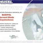 Certyfikat szkolenia firmy Kreisel