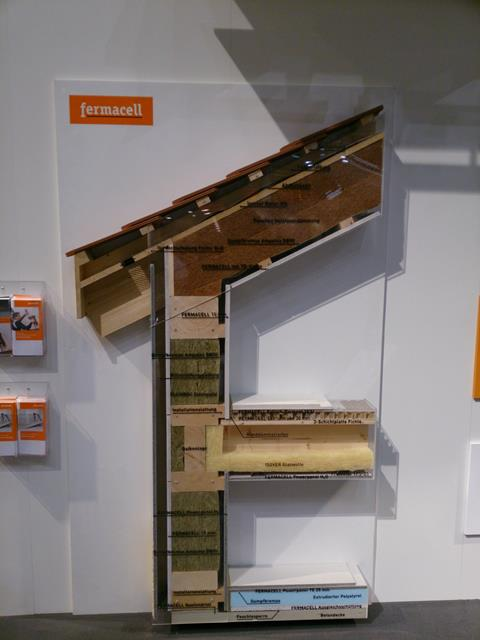Przekrój przez elementy konstrukcyjne z wykorzystaniem produktów Fermacell